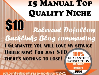 Do 15 Manual Top Quality Niche Relevant Dofollow Backlinks Blog commenting