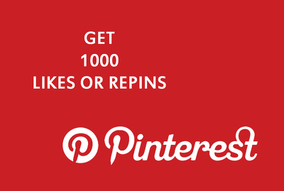 Give you 1000 Pinterest likes or repins