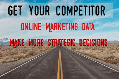 Give your competitors online marketing data including SEO,Adwords,Backlinks,Traffic