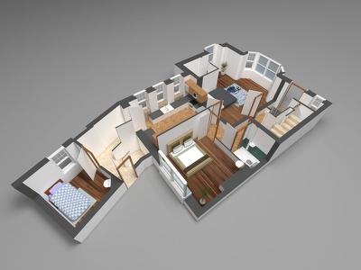 Make 3D floorplan with Sketchup