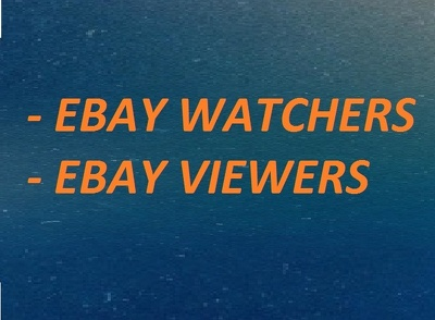Will improve eBay SEO adding 500 watchers and 1000 Views in your listing