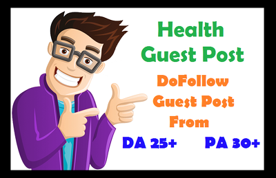 Publish guest post on health website with DA 38