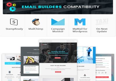 Create a PSD to Mailchimp or Campaign, HTML newsletter