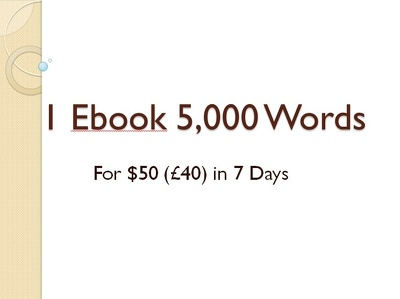 Write a 5,000 words ebook  in 5 days