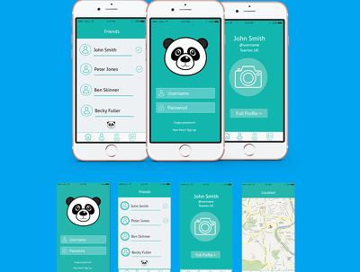 Design beautiful iPhone/Android mobile app screens with unlimited revisions