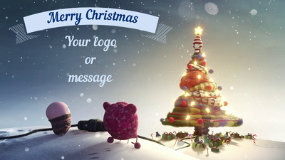 Make an Amazing Animated Christmas Greeting Video with your Message or Logo+Revisions