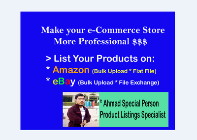 Upload 100 items on your Amazon & Ebay Site