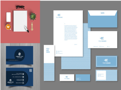 Provide you an elegant business card and stationary