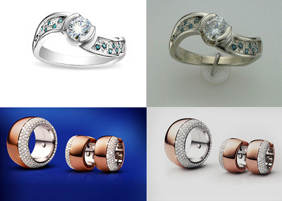 Retouch 5 jewelry  images to Hd quality