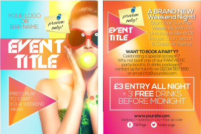Create the complete event media pack - flyer, poster & social media
