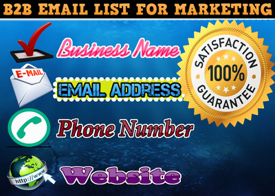 Provide B2B Email list for marketing (500 Emails)