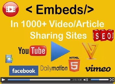 1000 YouTube Video Embeds