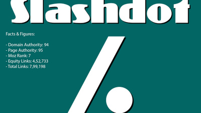 Write and post article on Slashdot with a backlink