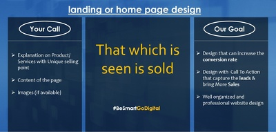 Design Landing/Home page with required Call to Action & increase conversion -psd only