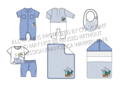 Design your childrenswear, kidswear or babywear 6 piece range