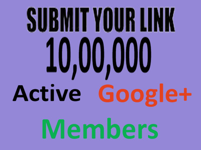 Submit Your Link to 10, 00,000 Active SOCIAL Members