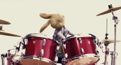Create this Playing drums video to promote your image