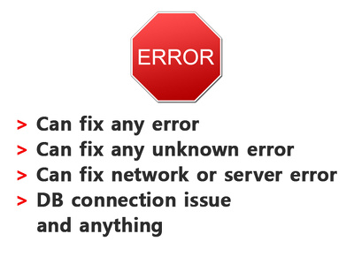Fix any error in Wordpress/Magento/Joomla/Drupal/PHP/Mysql/CSS/HTML/JS/CMS and etc
