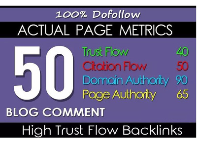 Do 50 High Trust Flow Authority Blog Comments