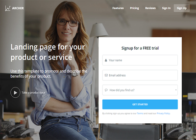 Create your Landing Page or Squeeze Page