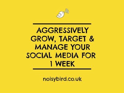Aggressively grow, target & manage your social media for 1 week