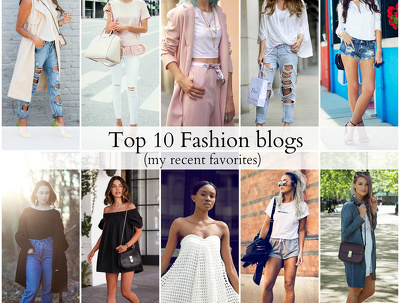 Promote you on 10 famous fashion blog
