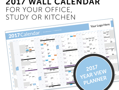 Design a custom 2017 Wall Calendar for your Office, Study or Kitchen