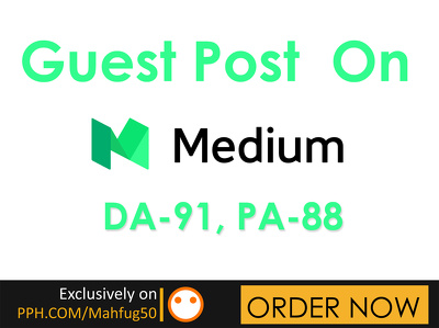 Publish a Guest Post on MEDIUM