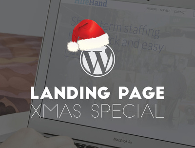 Create you a WordPress landing page [XMAS SPECIAL]