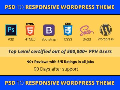 Convert PSD to Wordpress Theme using Bootstrap