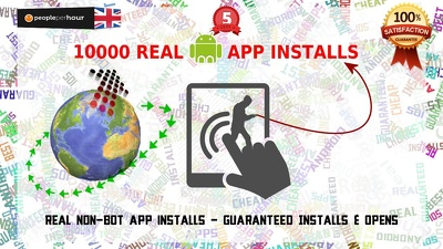 Get your Android app to the top with 10000 real installs and guaranteed opens