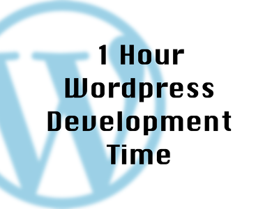 1 hour of development time for your Wordpress site