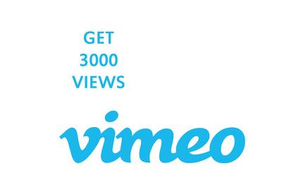 Give you 3000 high quality Vimeo views