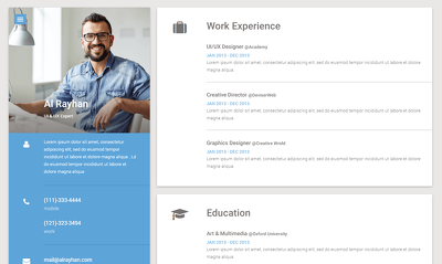 Design a cv/resume/potfolio website