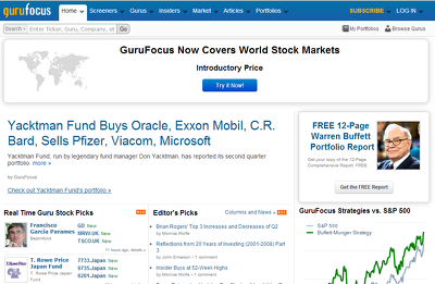 Publish a guest post on Gurufocus.com and link to your website (DA 67, PA 72)