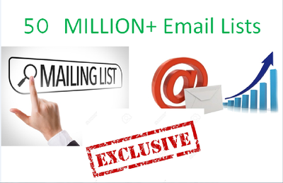 50 Million Massive Email lists with great bonus