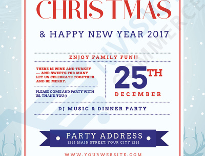 Provide three different cards for your christmas party