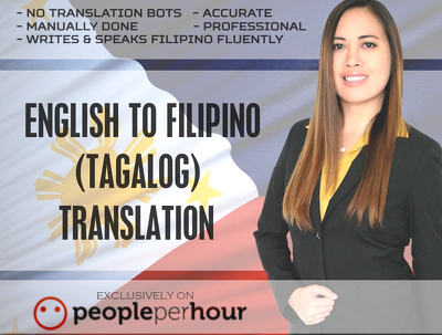 Translate English To Tagalog Filipino Up To 1000 Words Professionally