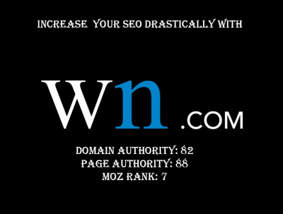 post your article or blog on WN.com with a nofollow backlinks