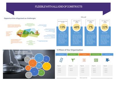 Design 10 extremely sleek & professional powerpoint slides