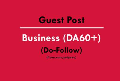 Guest Post on Business Site DA60+ (Do-follow)