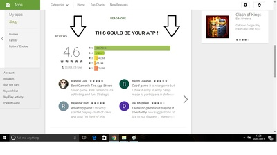 Give your android app 50 awesome reviews with 5 star ratings