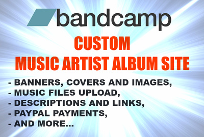 Create music site on Bandcamp and publish one album