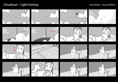 Illustrate one page of storyboards for your production