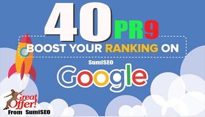 Site Ranking with 40 PR9 High Quality backlinks from Authority Domins