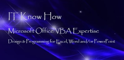 Provide Microsoft Excel, Word &/or PowerPoint VBA Programming