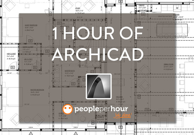 Provide 1 hour of ArchiCAD work for any architectural project (exterior or interior)