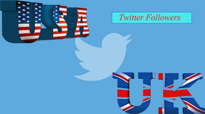Provide 2000 High Quality  USA or UK Twitter Followers