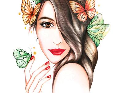 Create 1 digital or hand drawn portrait.