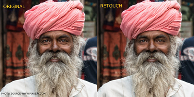 Retouch 5 portraits for skin blemishes & tonal variation while maintain natural look